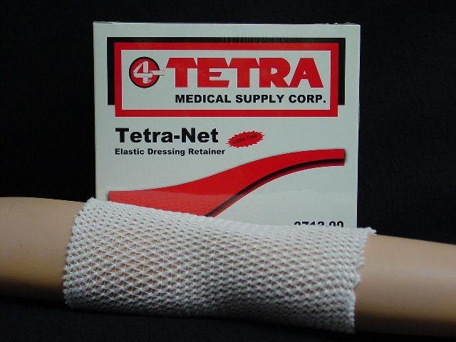 Tetra Medical Supply Tetra-Net Elastic Dressing Retainer: Tubular, 25yd Roll, Size 4 (Large: Hand, Arm, Leg, Foot)