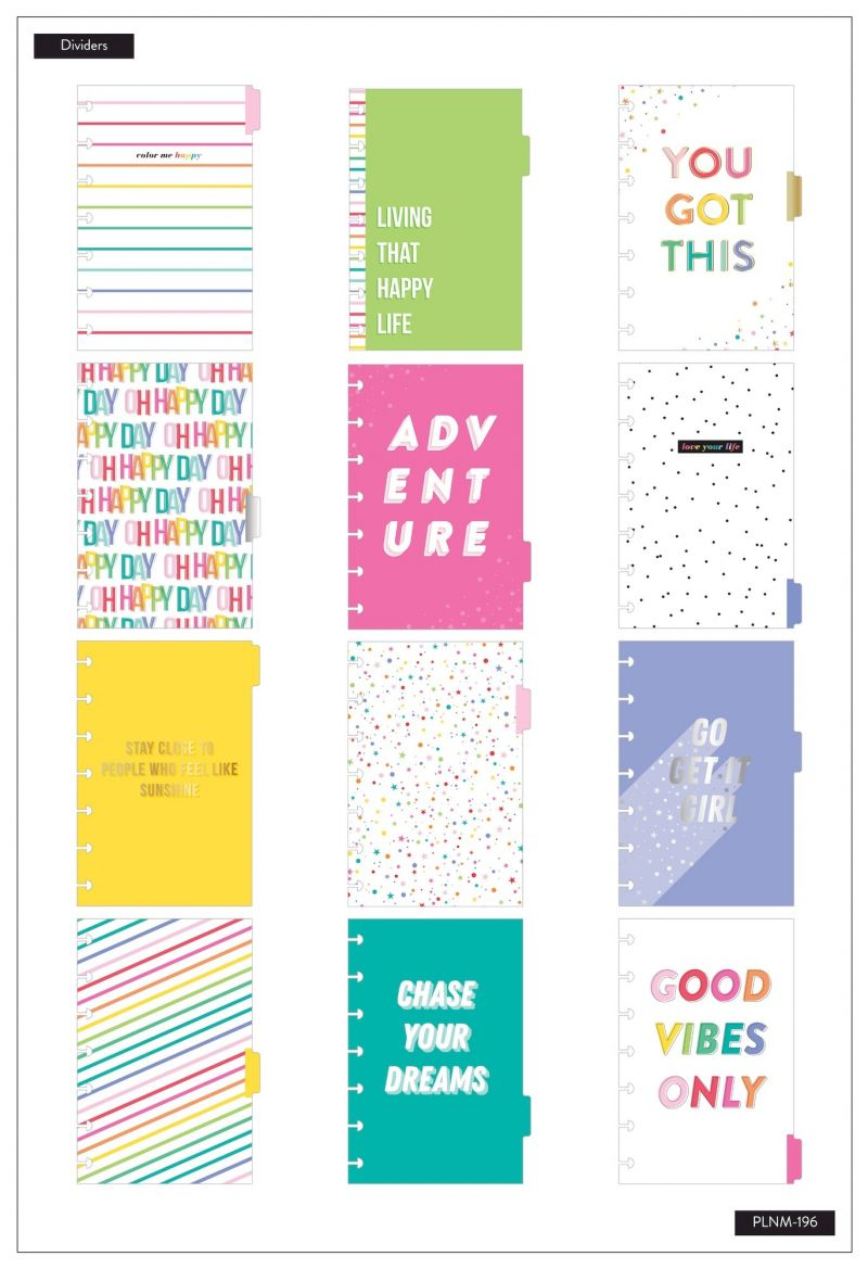 12 Months - Undated - Mini Happy Planner® - Oh Happy Everyday
