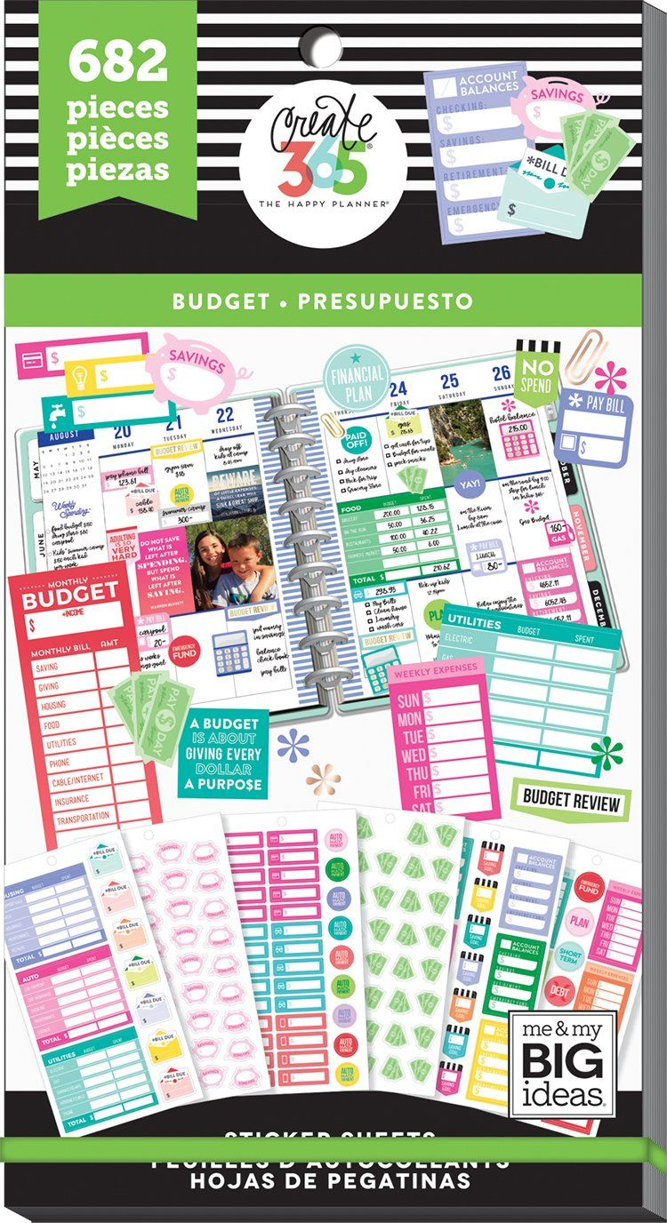 Value Pack Stickers - Fill In Budget