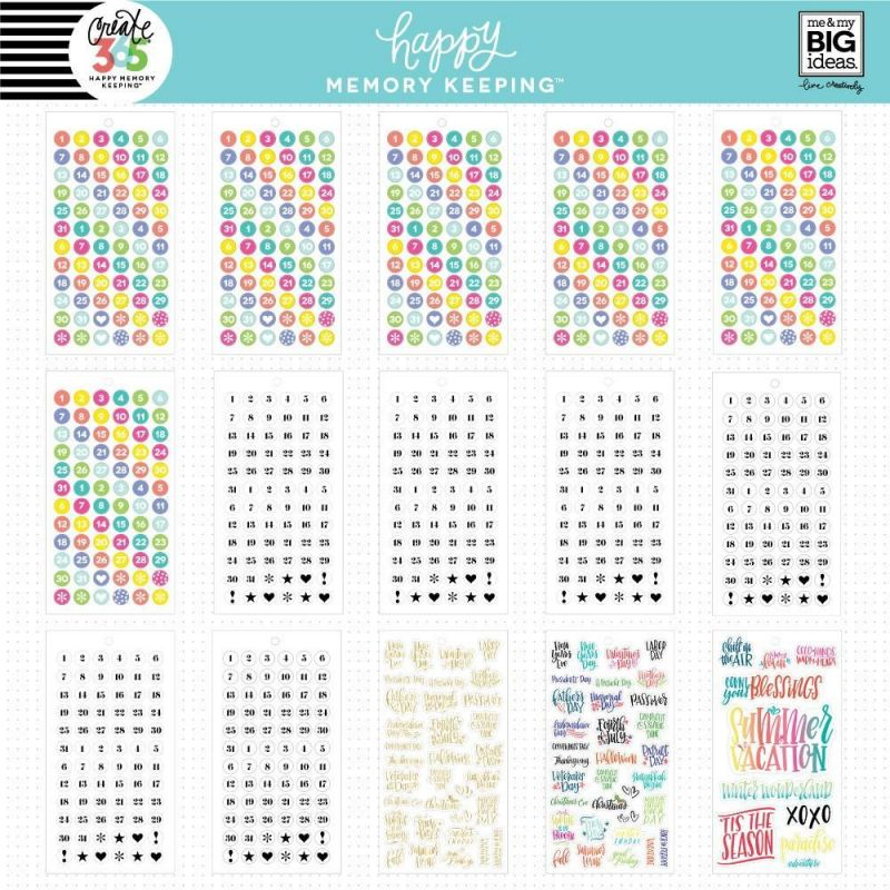 Happy Memory Keeping® Value Pack Stickers - Big - Dates And Holidays
