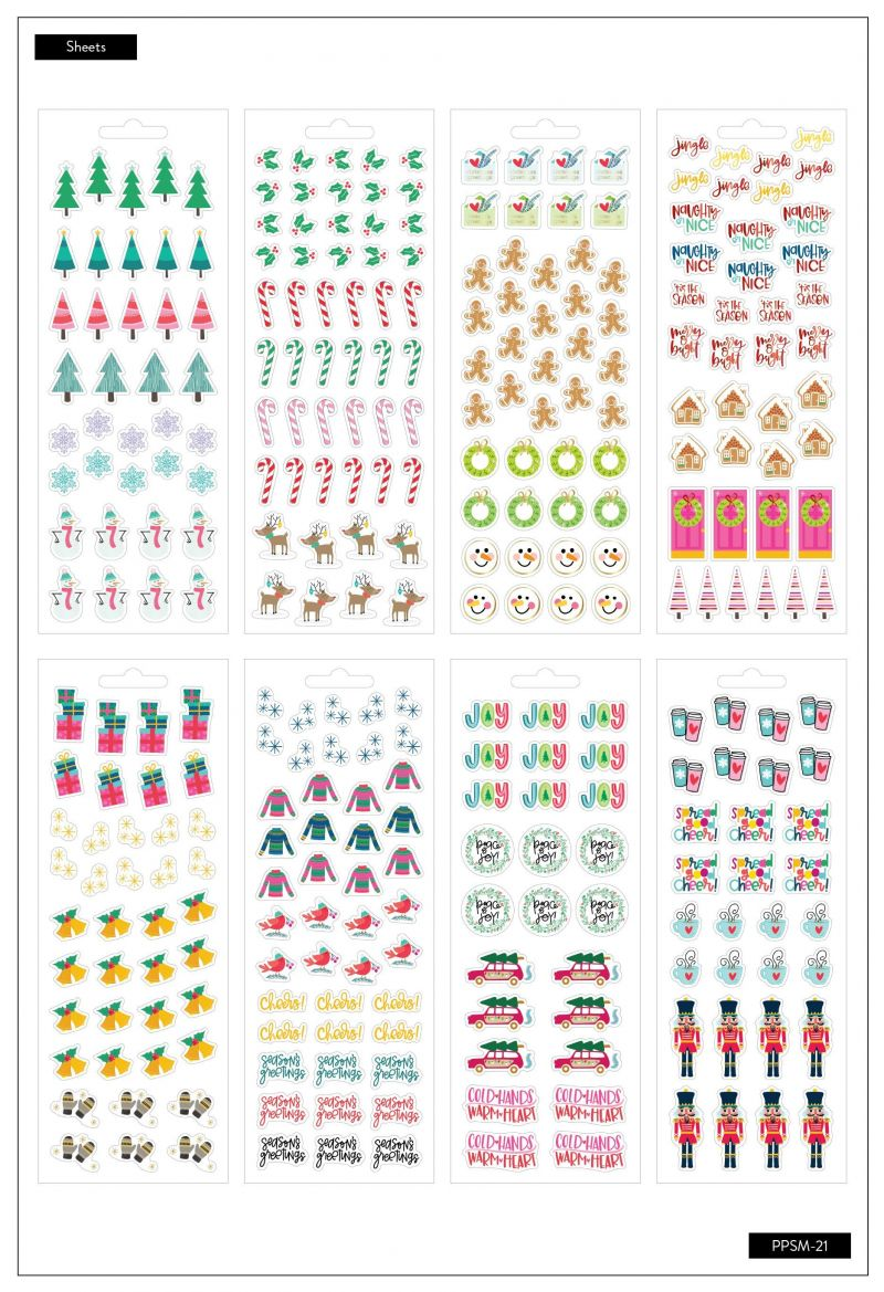 Petite Sticker Sheets - Merry And Bright
