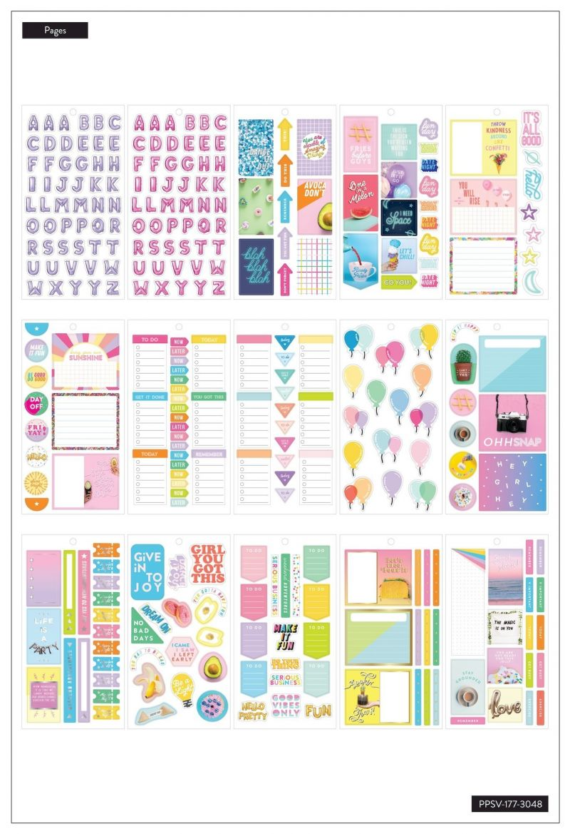 Value Pack Stickers - Life Is A Party