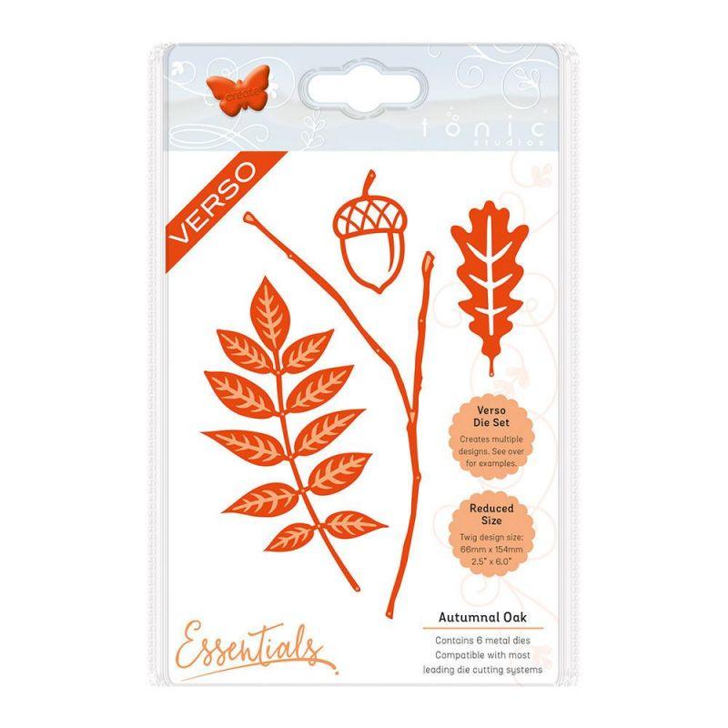 Tonic Studios - Autumn Leaves - Autumnal Oak Die Set - 1431e