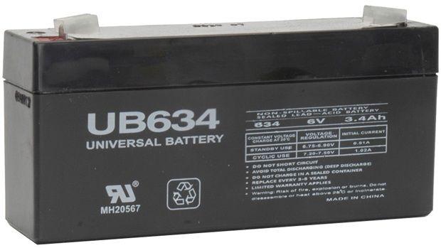 UPG Sealed Lead Acid AGM: UB634, 3.4 AH, 6V