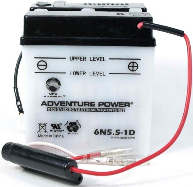 UPG Adventure Power Lead-Acid Conventional: 6N5.5-1D, 5.5 AH, 6V