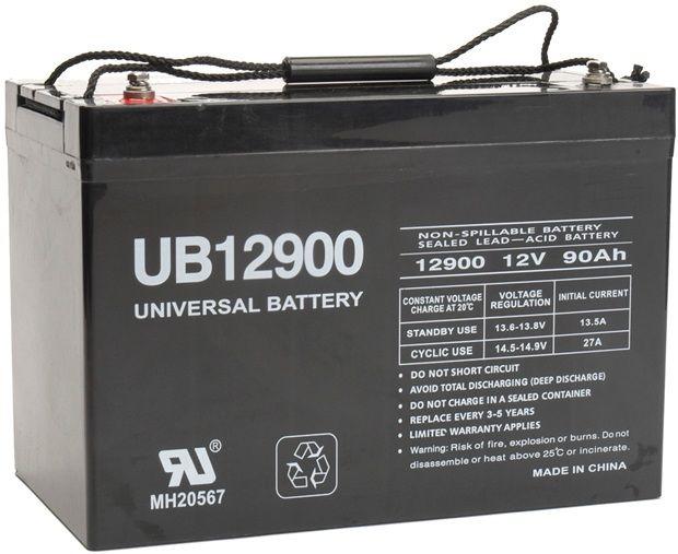 UPG Sealed Lead Acid AGM: UB12900, 90 AH, 12V, I4