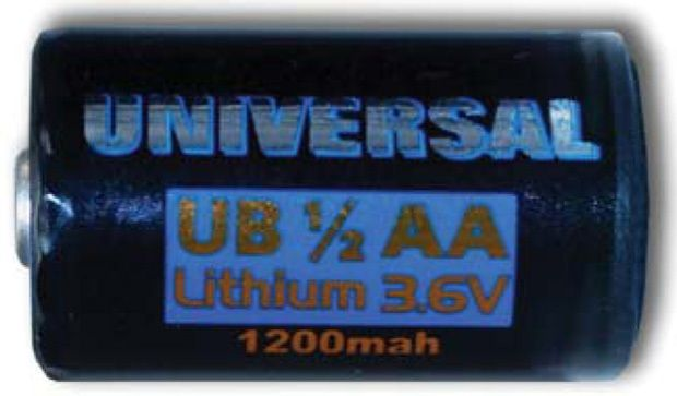 UPG Security Solutions Primary Lithium Battery: UB 1/2AA (High Capacity)