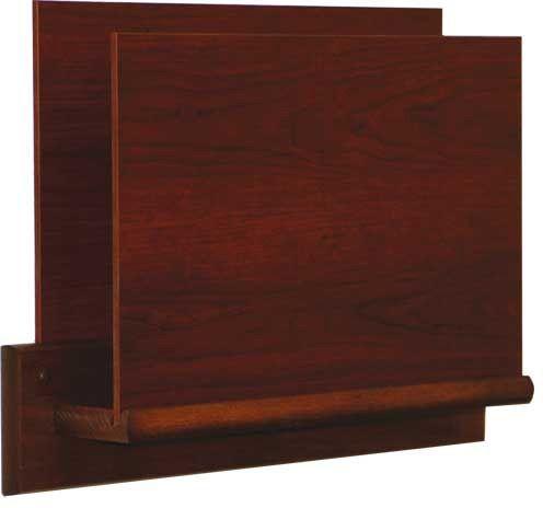 Wooden Mallet™ Single Open End Letter Size File Holder: Oval Mount