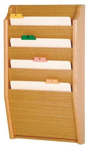 Wooden Mallet™ 4 Pocket Legal Size File Holder