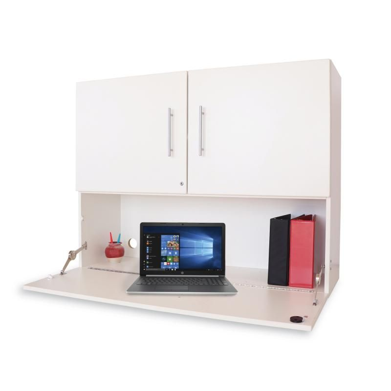 Whitney White Workstation Cabinet
