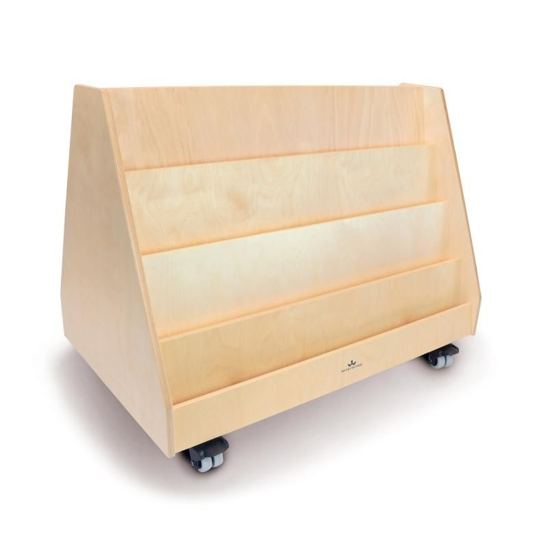 Two Sided Mobile Book Display Stand