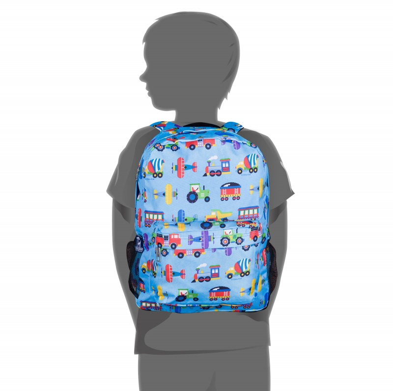 Trains, Planes & Trucks 16 Inch Backpack