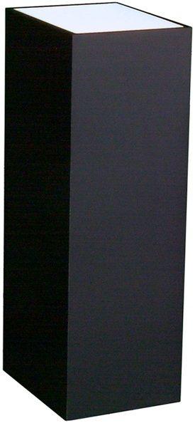 "Xylem Lighted Black Laminate Pedestal: 11 1/2"" x 11 1/2"" Base"