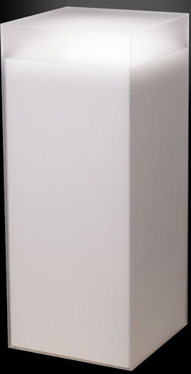 "Xylem Frosted Acrylic Pedestal: Size 11-1/2"" x 11-1/2"""