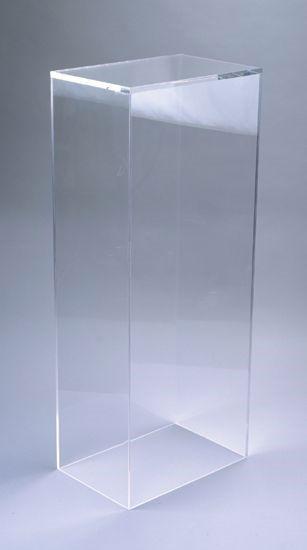 """Xylem Clear Acrylic Pedestal: 15"""" x 15"""" Base"""