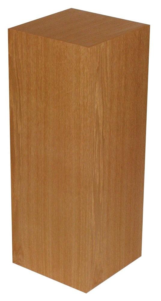 """Xylem Cherry Wood Veneer Pedestal: 23"""" X 23"""" Size"""