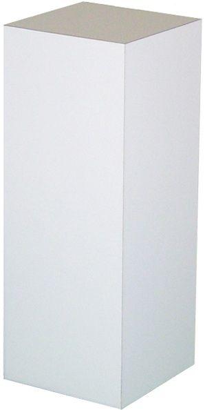 "Xylem White Laminate Pedestal: 23"" x 23"" Base"