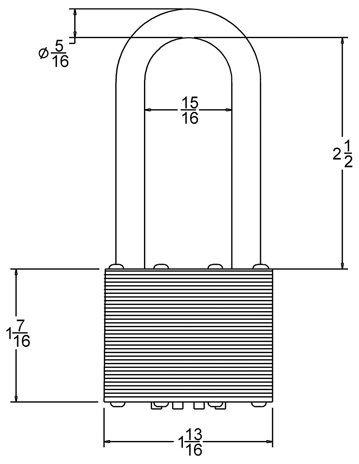 Long Shackle Combination Pad Lock